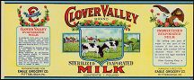 #ZLCA045 - Clover Valley Evaporated Milk Label