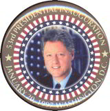 #PL247 - Clinton 53rd Presidential Inauguration Pin with Stars and Stripes
