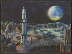 #MS120 - 3d Stereo USA Postcard Astronauts In Space, Lenticular