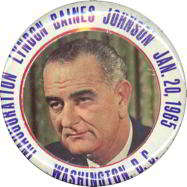"#PL241 - Large 3"" Diameter Lyndon Johnson Inauguration Pin"