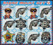 #CH090  - Tin Litho Made in Japan Lone Ranger Badge Set