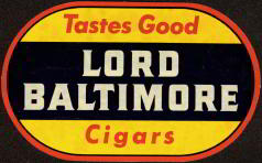 #SIGN031 - Lord Baltimore Cigar Decal