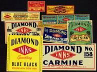 #ZBOT021 - Set of 10 Diamond Ink Labels