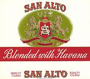 #ZLSC040 - San Alto Cigar Label