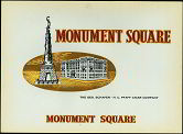 #ZLSC051 - Monument Square Cigar Label