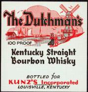 #ZLW026 - The Dutchman's Kentucky Whiskey Label