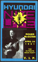 #MUSIC772 - Roger McGuinn Unlaminated OTTO Backstage Pass from 1991