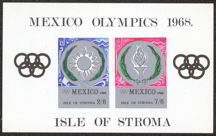 #ZZZ022 - Oversized Collector Stamp from the 1968 Mexico Olympics