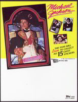 #ZZA088 - 1984 Michael Jackson Trading Card Stickers Order Sheet