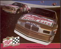 #BA056 - Miller High Life Racing Photo Bobby Allison, Mike Alexander, and Booy Hillin