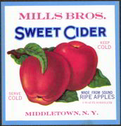 #ZBOT088- Mills Bros Sweet Cider Label
