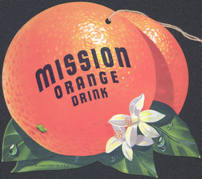 #SIGN085 - Mission Orange Fan Hanger Sign