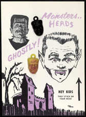 #CH160  - Monster Head Charm Display Picturing Frankenstein