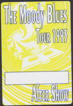 #MUSIC091  - 1993 Moody Blues Tour OTTO Backstage Pass