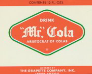 #ZLS082 - Mr Cola Grapette Bank Label
