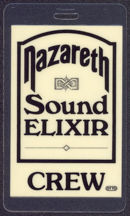 #MUSIC502 - 1983 Nazareth laminated backstage pass from the Sound Elixir Tour