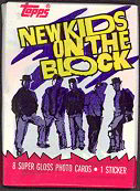 #ZZA034 - 1989 New Kids on the Block Wax Pack of Photo Cards