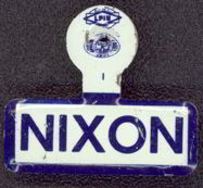 #PL166 - Blue and White Nixon Tab