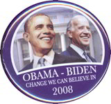 #PL245 - Obama Biden Change We Can Believe In 2008 Pinback