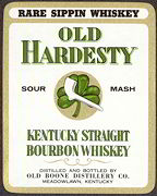 #ZLW109 - Old Hardesty Sour Mash Whiskey Label - Irish Theme