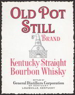 #ZLW090 - Old Pot Still Kentucky Bourbon Whiskey Label