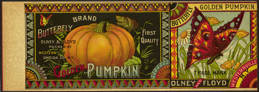 #ZLCA143 - Very Rare and Very early Butterfly Brand Pumpkin Can Label