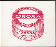 #ZLP076 - Orona Aluminum Cleaner Box End Label