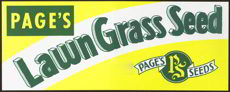 #SIGN075 - Page&#39;s Lawn Grass Seed