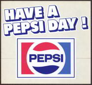 #SOZ053  - Pair of Have a Pepsi Day Door Decals