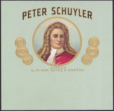 #ZLT033 - Peter Schuyler Cigar Box Label