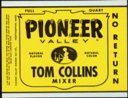 #ZLS094 - Pioneer Valley Tom Collins Mixer Soda Bottle Label