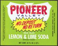 #ZLS111 - Pioneer Lemon & Lime Soda Bottle Label