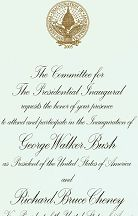 #PL087 - George Walker Bush Inauguration Invitation