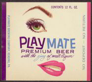 #ZLBE059 - Playmate Premium Beer Label