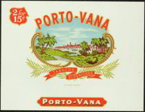 #ZLSC053 - Porto-Vana Cigar Box Label