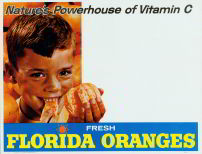 #SIGN028 - Nature's Powerhouse Florida Orange Sign