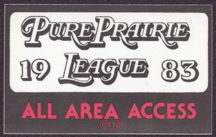 #MUSIC035  - 1983 Pure Prairie League OTTO Backstage Pass