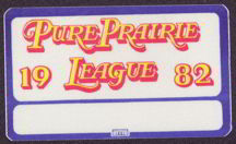 #MUSIC034  - 1982 Pure Prairie League OTTO Backstage Pass