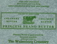 #DA038 - Princess Brand Butter Stick Wrapper
