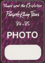 #MUSIC025  - Prince and the Revolution 1984-85 Purple Rain Otto Backstage Pass