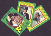 #ZZA128 - Complete Topps 88 Card Raiders of the Lost Ark Card Set