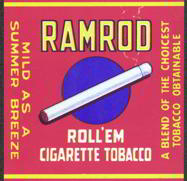 #ZLT026 - Ramrod Tobacco Pack Label