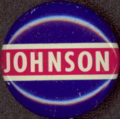 #PL204 -Red White and Blue  Johnson Pinback