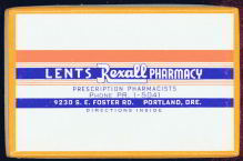 #CS133 - Lents Rexall Pharmacy Box