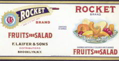 #ZLCA087 - Rocket Fruit Can Label - Pictures 4th July Rocket