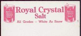 #ZZZ051 - Sheet of Royal Crystal Salt Notepad Letterhead