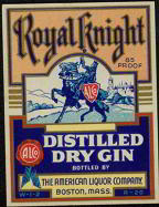 #ZLW072 - Scarcer Large Size Royal Knight Distilled Gin Label