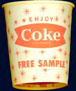 #CC065 - Old Coca Cola  Free Sample Cup