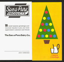#DA059 - Seasons Greeting Pamphlet from the San-a-Pure Dairy in Findlay, Ohio