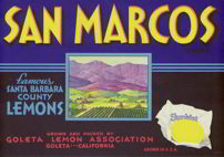 #ZLC200 - San Marcos Sunkist Lemon Crate Label